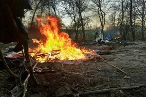Во Львове разгромлен очередной табор ромов. Убит человек