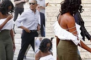 Мишель Обама в коротких шортах побыла на подтанцовке у Бейонсе