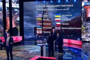 Бандеровцы расстроены: на России опубликовали список недружественных стран без Украины