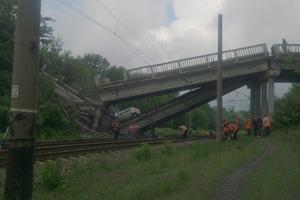 Сложился пополам: террористы взорвали мост на трассе под Луганском