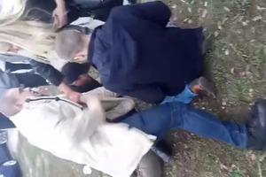 Появилось видео задержания Коханивского, устроившего стрельбу в Киеве