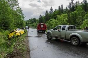 В Карпатах произошло несколько ДТП во время раллийных гонок