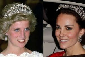 Кейт Миддлтон скопировала образ принцессы Дианы