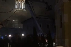 В Киеве полыхает Киево-Печерская Лавра
