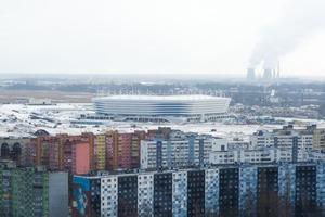 Стадион ЧМ-2018 в России начал уходить под землю