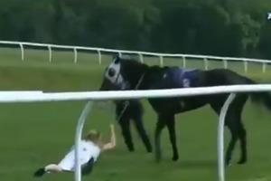 Смертельный риск: спортивная журналистка бросилась под ошалевшую лошадь