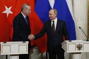 На России в Сочи проходит встреча президента Турции с российским лидером