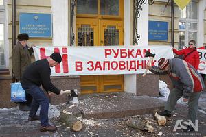 Леса и животные в бывших угодьях Януковича на Сухолучье уничтожаются