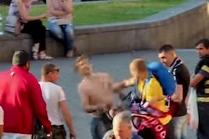 Рука-молния. В Киеве мужчина одним ударом успокоил хулигана