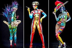 Откровенные фото рисунков по телу с фестиваля body art