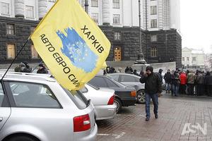 Євробляхери беруть Київ змором. Центр столиці паралізований