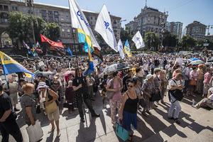 Киевляне протестуют против повышения стоимости проезда и требуют аудита предприятий-перевозчиков