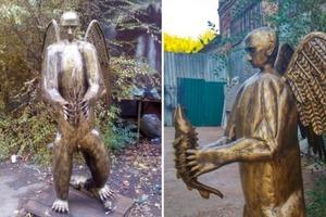 Маразм крепчал: в РФ сделали бронзового Путина в образе медведя с крыльями