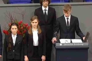 Российский школьник в Бундестаге извинился за убитых немецких солдат