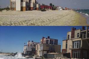 Море в Затоке подошло впритык к домам