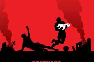 Футбол в стране-убийце. Украинский художник создает серию сильных плакатов о бойкоте ЧМ