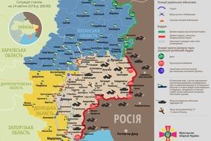 Сутки в АТО: пятеро украинских бойцов получили ранения