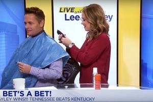 Телеведучого поголили в прямому ефірі після програної суперечки