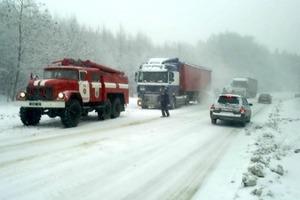Штормовое предупреждение объявлено на Закарпатье из-за снежной бури