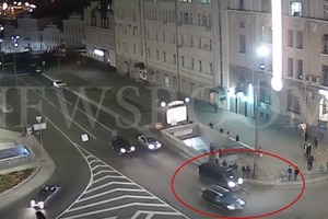 Опубликовано видео момента столкновения в Харькове
