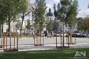 Первый парк вместо МАФов открыли в Киеве на Контрактовой площади