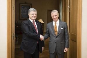 Король Бельгии признался Порошенко, что спал на полу в Киеве