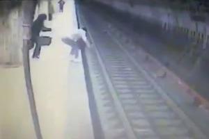 Убийца скинула женщину под поезд метро