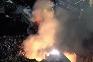 В Китае за ночь построили железнодорожную развязку: опубликовано видео