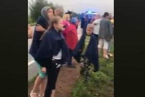 Сон за рулем: под Киевом автобус с детьми слетел в кювет