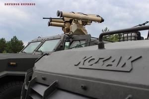 КБ Луч показало нове протитанкове озброєння для броньовика Козак