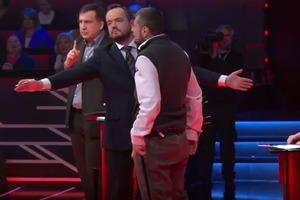 Скандалист Мосийчук накинулся на Саакашвили в эфире политического шоу