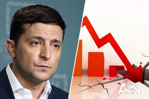 Рейтинг Зеленского упал до рекордного минимума