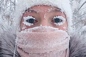 Есть ли жизнь при -62? Леденящие кровь фото с полюса холода