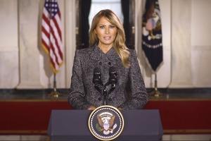 Мелания Трамп выступила с прощальной речью в качестве первой леди США