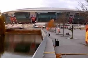 В сети появилось свежее видео стадиона «Донбасс Арена»