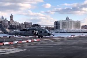 Вертолету военно-морского флота США оторвало хвостовое колесо при приземлении