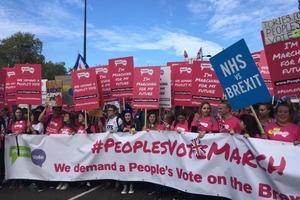Brexit: тысячи людей вышли на крупнейший протест в Лондоне