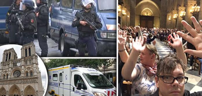 ЗМІ: УПарижі поліцейський застрелив нападника біля собору Нотр-Дам