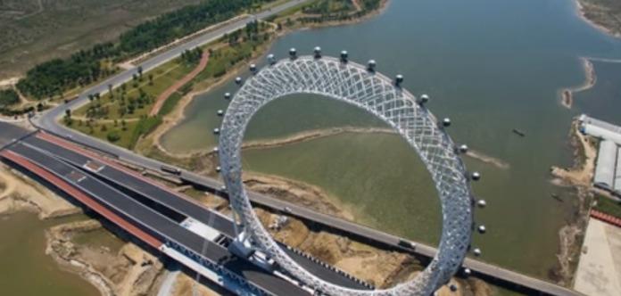 В Китае откроют первое в мире колесо обозрения без спиц