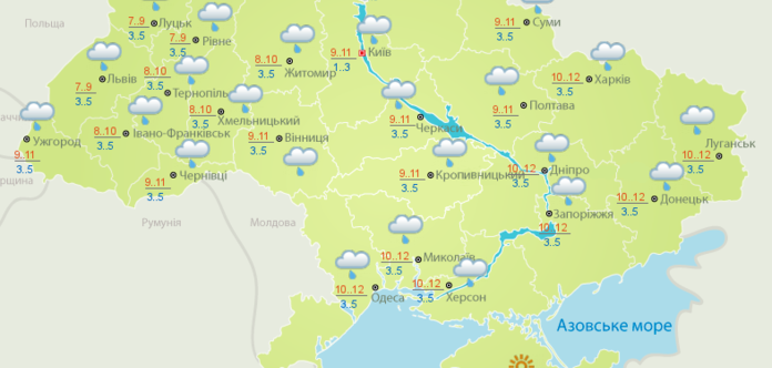 Украину на выходных зальет дождями