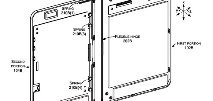 Microsoft запатентовал устройство сгибким экраном