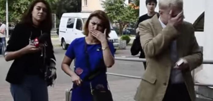 УКиєві біля військкомату сталася сутичка антикорупціонера Шабуніна зжурналістом