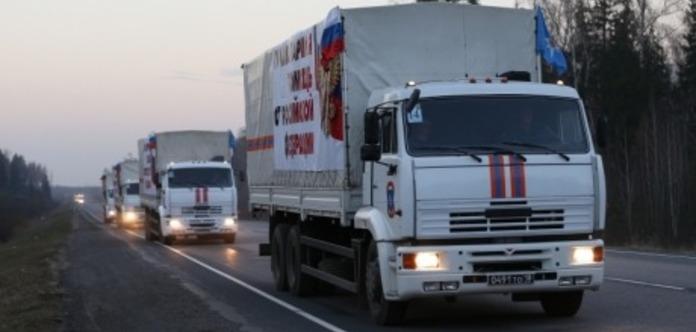 МНСРФ: НаДонбас виїхав 66-й російський «гумконвой»