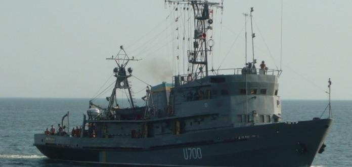 УМиколаєві горить корабель ВМС України