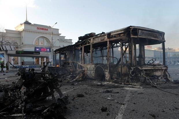 ОБСЕ зафиксировала 46 взрывов в Донецке возле ж/д вокзала