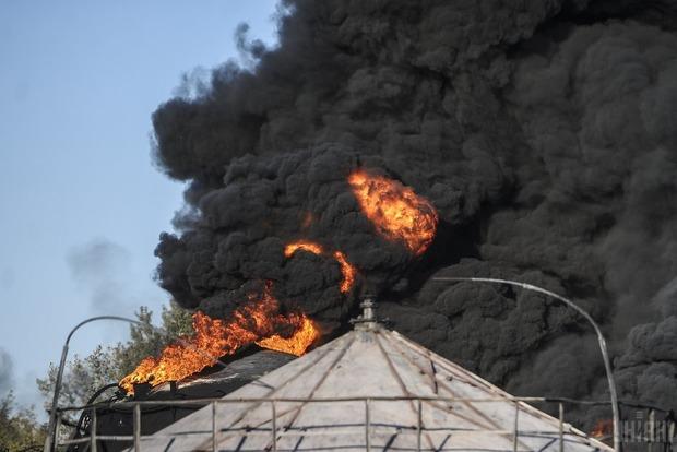 Под Киевом прогремел взрыв на нефтебазе