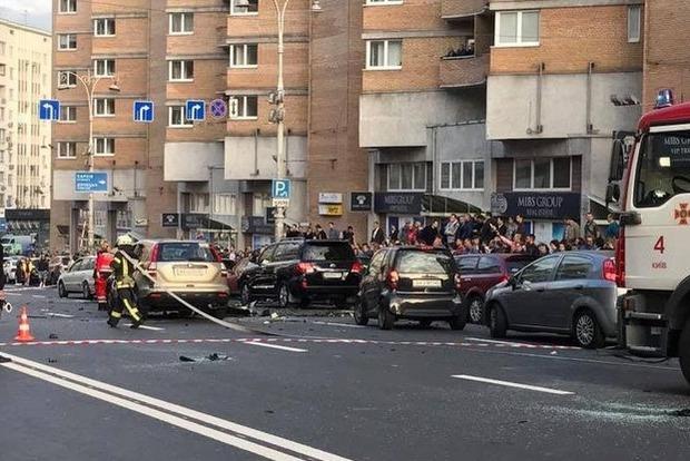 В МВД сообщили детали взрыва в Киеве: бомба была в подлокотнике
