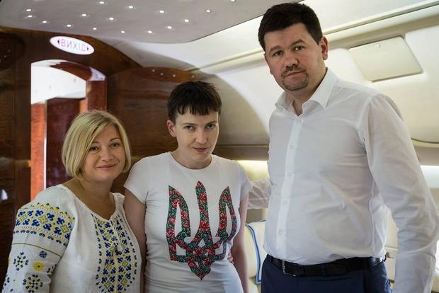 Стало известно, во сколько обошлось возвращение Савченко из России самолетом Президента