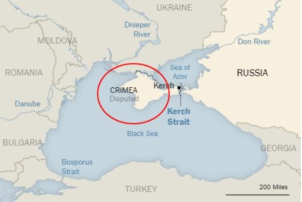 В The New York Times не будут менять карту со спорным Крымом