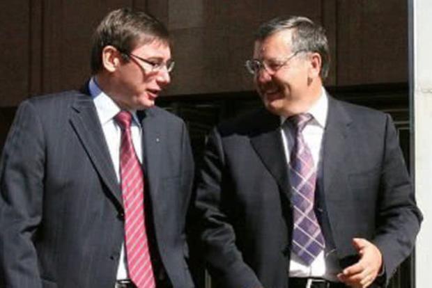 Гриценко и Луценко скандально померялись службой сыновей на войне